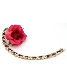 Saphir Brillant Armband 585 / 14 Karat Gelbgold 20,67 Gramm
