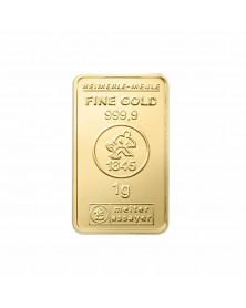 3 x 1 Gramm Goldbarren
