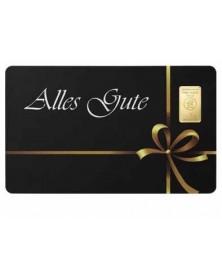 """1 Gramm Geschenkkarte """"Alles Gute"""""""