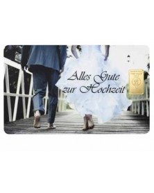 """1 Gramm Geschenkkarte """"Alles Gute zur Hochzeit"""""""