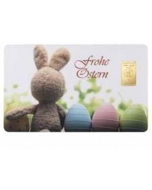 """1 Gramm Geschenkkarte """"frohe Ostern"""""""