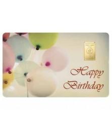 """1 Gramm Geschenkkarte """"Happy Birthday"""""""