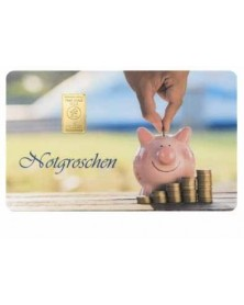 """1 Gramm Geschenkkarte """"Notgroschen"""""""