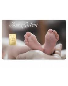 """1 Gramm Geschenkkarte """"Zur Geburt"""""""