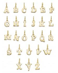 Buchstaben-Anhänger aus 585 Gelbgold