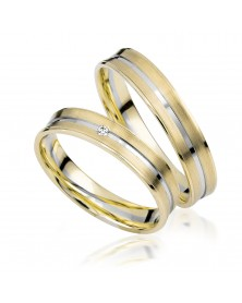 Ringe aus Gelbgold und Weißgold S914