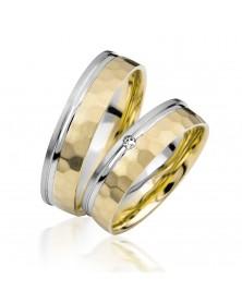 Ringe aus Gelbgold und Weißgold S915