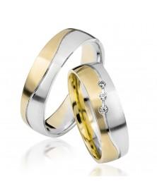 Ringe aus Gelbgold und Weißgold S916