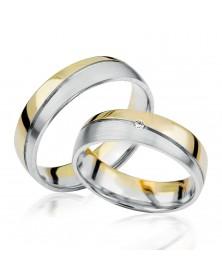 Ringe aus Gelbgold und Weißgold S917