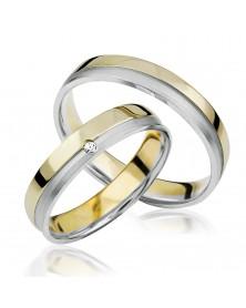 Ringe aus Gelbgold und Weißgold S918