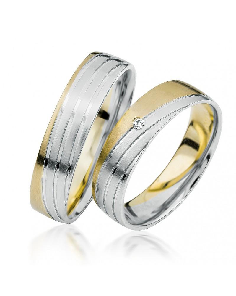 Ringe aus Gelbgold und Weißgold S919