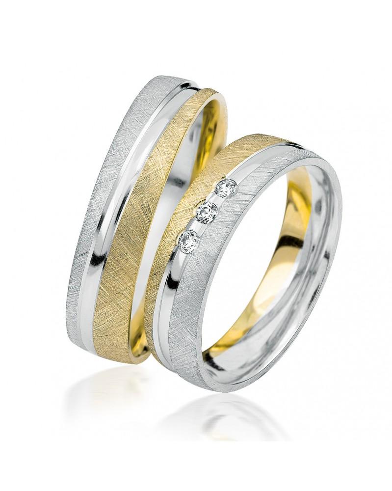 Ringe aus Gelbgold und Weißgold S920
