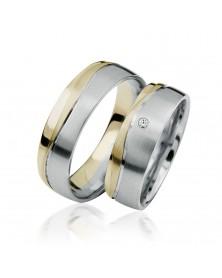 Ringe aus Gelbgold und Weißgold S921