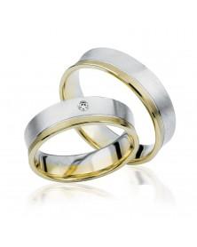 Ringe aus Gelbgold und Weißgold S922