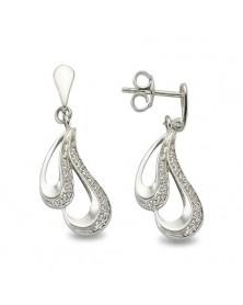 Ohrhänger aus 925 Silber Zirkonia weiß