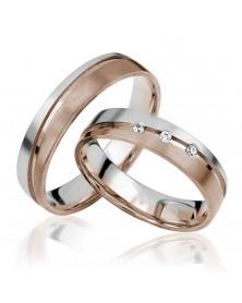 Ringe aus Weißgold und Roségold Brillant