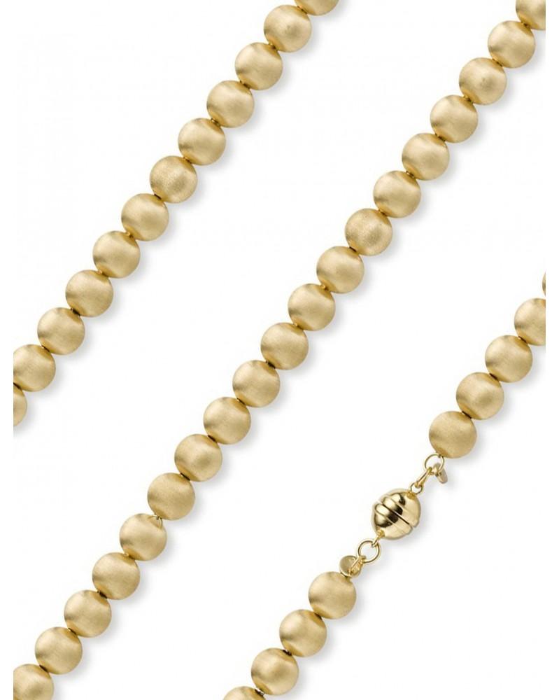 Kugelcollier mattiert 8,0 mm aus 585 Gelbgold