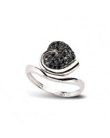 Ring aus 925er Silber Zirkonia schwarz