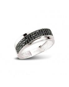 Ring aus Silber Zirkonia schwarz