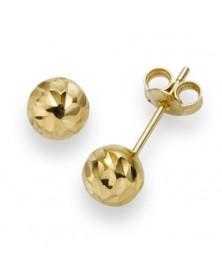 Ohrstecker diamantiert 6,0 mm aus Gelbgold
