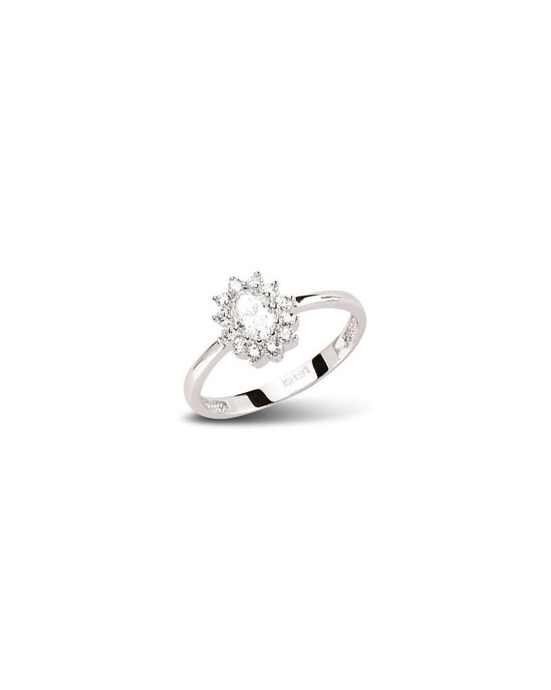 Ring aus 925 Silber Zirkonia weiß