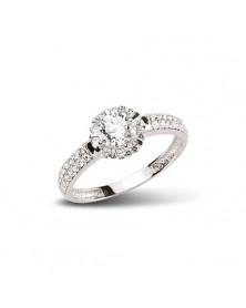 Ring aus Silber Zirkonia weiß