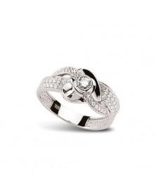 Ring aus Silber 925 Zirkonia weiß