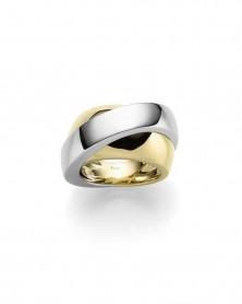Ring 1,4 cm aus 585 Gelb- und Weißgold