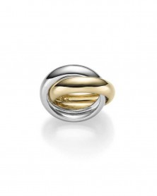 Ring aus 585 Gold bicolor