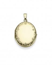 Medaillon mit Gravur aus 585 Gelbgold