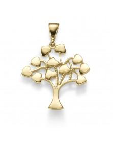 Liebesbaum-Anhänger aus 585 Gelbgold