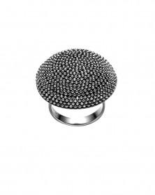 Ring 4,0 mm aus 585 Gold schwarz Ø 2,9 cm