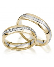 Ringe aus Gelbgold und Weißgold