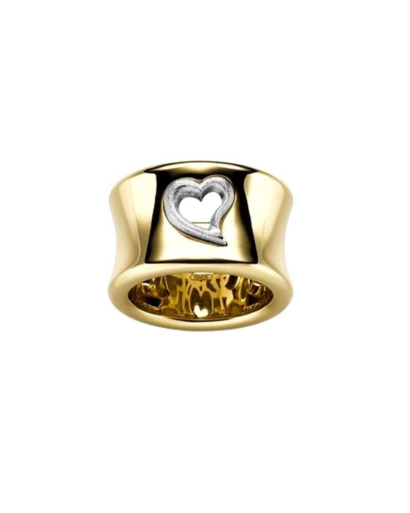 Ring 1,5 cm aus 585 Gelb- und Weißgold