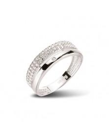 Ring aus 925er Silber Zirkonia weiß