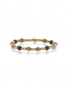 Armband elastisch 4,0 mm aus 585 Gold in Tricolor