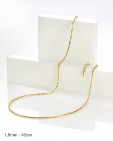 Criss Cross 1,5 mm 42 cm 585 Gelbgold