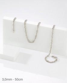 925 Silber Singapurkette 3,0mm 50cm
