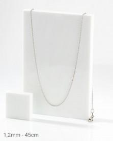 Ankerkette rund 925er Silber 1,2 mm