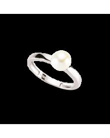 Ring aus 925er Silber mit Süßwasserzuchtperle