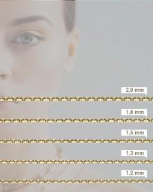 Ankerkette diamantiert mit Breitenangaben